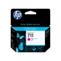 HP 711 Magenta Original Ink Cartridge CZ131A (29 ML) for HP DesignJet T120, T120e, T520, T520e