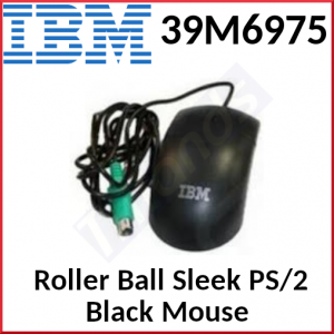 IBM Roller Ball Sleek PS/2 Black Mouse 39M6975