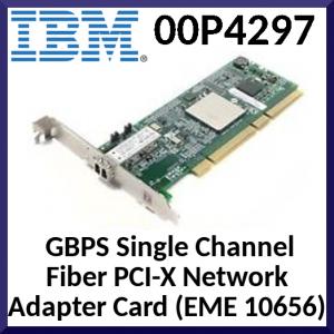 IBM 00P4297 2 GBPS Single Channel Fiber PCI-X Network Adapter Card (EME 10656)