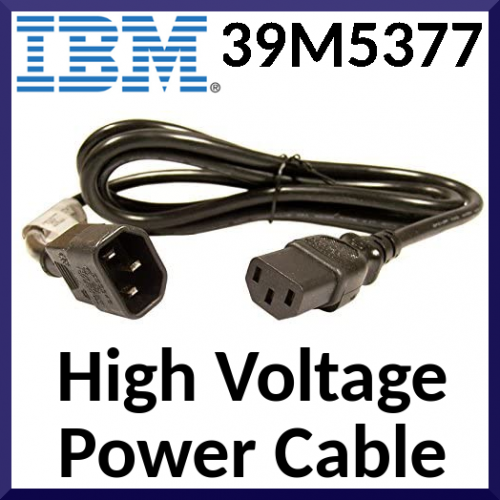 IBM High Voltage Power Cable 39M5377 - 10A 220V 3 Meters European Power Cord Suitable for Belgium, France, Holland, Germany