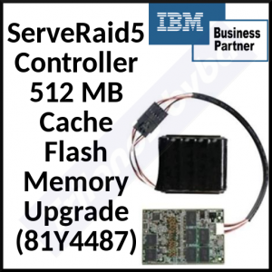 IBM ServeRAID 5 Controller 512 MB Cache Flash Memory Upgrade (81Y4487) - 512 MB Upgrade for ServeRAID M5110 and M5110e SAS/SATA Controllers