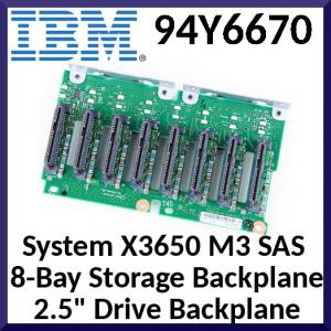 "IBM System X3650 M3 SAS  8-Bay Storage Backplane 2.5"" Drive Backplane 94Y6670"