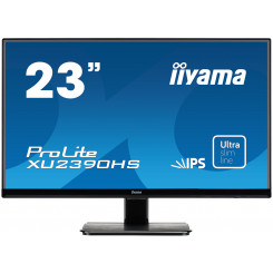 "Iiyama ProLite XU2390HS-1 - LED monitor - 23"" - 1920 x 1080 FullHD - IPS - 250 cd/m2 - 1000:1 - 5000000:1 (dynamic) - 5 ms - HDMI, DVI-D, VGA - speakers - black"