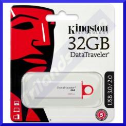 Kingston 32 GB DataTraveler G4 - USB flash drive - 32 GB - USB 3.0 - Red (DTIG4/32GB)