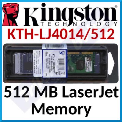Kingston 512 MB LaserJet Memory KTH-LJ4014/512 (HP CE463A) - DDR2, DIMM, 144 pins, 400Mhz, PC2-3200 for HP LaserJet Enterprise Printers - Box Packed