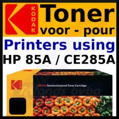 CE285A Kodak 185H028501 Black Toner Cartridge (1600 Pages) for HP LaserJet Pro M1132 MFP, M1212nf MFP, M1217nfw MFP, P1102, P1102W, P1104, P1104W, P1106, P1106W, P1107, P1107W, P1108, P1108W, P1109, P1109W