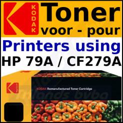CF279A Kodak 185H027901 Black Toner Cartridge (1000 Pages) for LaserJet Pro M12a, M12w, MFP M26a, MFP M26nw