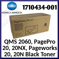 Konica Minolta 1710434-001 Black Original Toner Cartridge (10000 Pages) for QMS 2060, PagePro 20, 20NX, Pageworks 20, 20N, Tally MicroLaser 200