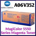 Konica Minolta A06V352 Magenta Original Toner Cartridge (6000 Pages) for Konica Minolta MagiColor 5550, 5500DN, 5570, 5570EN, 5650EN, 5670EN - Special Clearance Price