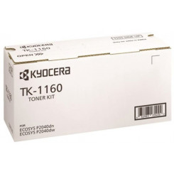 Kyocera TK-1160 Black Original Toner Cartridge (7200 Pages) for Kyocera ECOSYS P2040dn, P2040DN/KL3, P2040dw, P2040DW/KL3