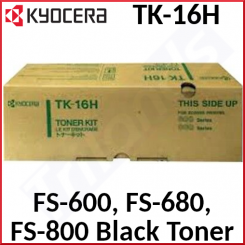 Kyocera TK-16H Black Original Toner Cartridge 37027016 (3600 Pages) for Kyocera FS-600, 600T, 680, 680/E12, 680N, 680T, 680TN, 800, 800 Plus, 800/E20, 800/TE20, 800N, 800T - New - Original Packing - Stock Clearance