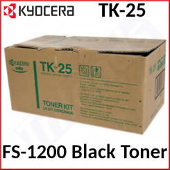 Kyocera TK-25 Black Original Toner Cartridge 37027025 (5000 Pages) for Kyocera FS-1200dn, FS-1200n, FS-1200 - New - Original Packing - Stock Clearance