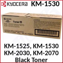 Kyocera KM-1530 Black Toner Original Cartridge (10000 Pages) for Kyocera KM-1525, KM-1530, KM-1570, KM-2030, KM-2030P, KM-2030PN, KM-2070, - CopyStar CS-1530, CS-2030, CS-2030SP1, CS-2030SP2 - New - Original Packing - Stock Clearance