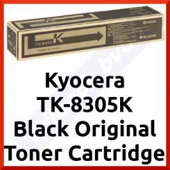 Kyocera TK-8305K Black Original Toner Cartridge 0T2LK0NL (25000 Pages) for Kyocera TaskAlfa 3050ci, 3051ci, 3550ci, 3551ci