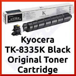 Kyocera TK-8335K Black Original Toner Cartridge 1T02RL0NL0 (25000 Pages) for Kyocera TaskAlfa C3252CI