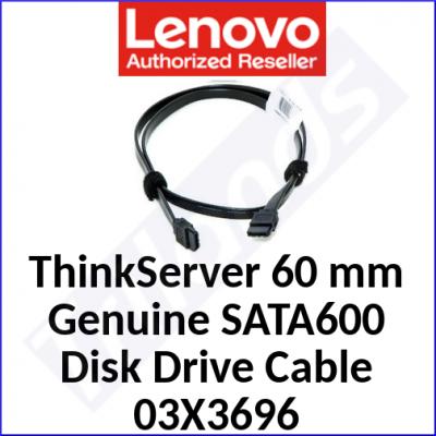 Lenovo ThinkServer 60 mm Genuine SATA600 Disk Drive Cable 03X3696 - for Lenovo ThinkServer  RD340, RD430, RD630, RD640, TD340, TS130, TS430, TS440
