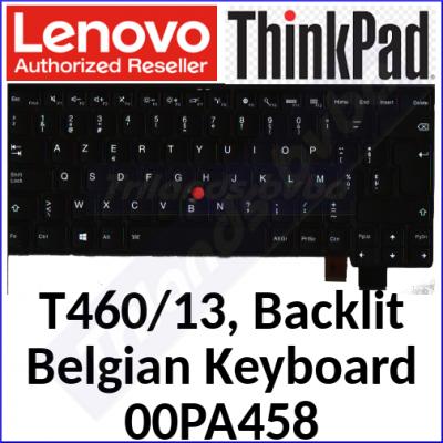 Lenovo ThinkPad T460s Backlit Genuine (Original) Replacement Keyboard 00PA458 - (Azerty Belgium)