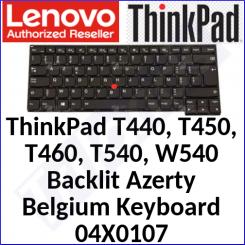 Lenovo ThinkPad Genuine (Original) Replacemant Backlit Keyboard 04X0107 (Azerty Belgium) for ThinkPad T440s Model (20AQ, 20AR) - Original Lenovo Replacement Part