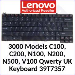 Lenovo 3000 Replacemant GENUINE Keyboard 39T7357 (Qwerty UK) for Lenovo 3000 Models C100, C200, N100, N200, N500, V100