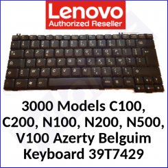 Lenovo 3000 Replacement Genuine Keyboard 39T7429 (Azerty Belgium) for Models C100, C200, N100, N200, N500