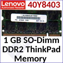 Lenovo 1 GB SO-Dimm DDR2 ThinkPad Memory 40Y8403 - SODimm - 200 Pins - 667MHz - PC2-5300 - CL5 - NONECC