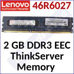 Lenovo 2 GB DDR3 EEC ThinkServer Memory 46R6027 - 1333MHz, DDR3-1333 PC3-10600, 240p DIMM, ECC, 1.5v - Original Lenovo Part (46R6027) for ThinkServers