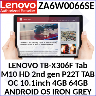 LENOVO TB-X306F Tab M10 HD 2nd gen P22T TAB OC 10.1inch 4GB 64GB ANDROID OS IRON GREY