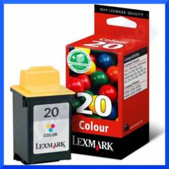 Lexmark 20 Tri-Color High Capacity Original Ink Cartridge 15MX120E (685 Pages)