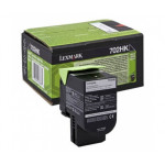 Lexmark 702HK High Yield Black Original Toner Cartridge 70C2HK0 (4000 Pages) for Lexmark CS310dn, C310n,CS410dn, C410n, CS410dtn, CS510de, CS510dte