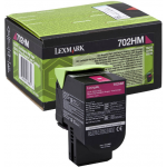 Lexmark 702HM High Yield Magenta (Return Program) Original Toner Cartridge 70C2HM0 (3000 Pages) for Lexmark CS310dn, C310n,CS410dn, C410n, CS410dtn, CS510de, CS510dt