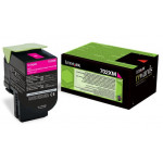 Lexmark 702XM Magenta Return Program High Capacity Original Toner Cartridge 70C2XM0 (4000 Pages) for Lexmark CS510de, CS510dte
