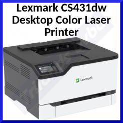 Lexmark CS431dw Desktop Color Laser Printer - 24.7 ppm Mono / 24.7 ppm Color