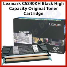 Lexmark C5240KH Black High Capacity Original Toner Cartridge (5000 Pages) for Lexmark C524, C524n, C524tn, C524dtn, C532, C532n, C532dn, C532dtn, C534, C534n, C534dn, C534dtn