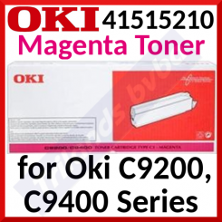 Oki 41515210 Magenta Original Toner Cartridge (15000 Pages) for Oki C9200, C9400, ES 3037 Series - Special Clearance Price