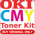Oki 44469704 Yellow / 44469705 Magenta / 44469706 Cyan Original Toner Cartridges for Oki C530dn, MC362dn (3 X 2000 Pages)