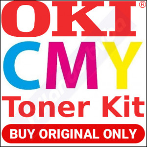 OKI 46508709 Yellow / 46508710 Magenta / 46508711 Cyan High Capacity Original Toner Cartridges (3-Toner Kit) - (3 X 3000 Pages) for Oki C332dn, MC363dn