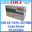 Oki 01333303 Cyan Original Imaging Drum (30000 Pages) for OKI ES 7470dfn, ES 7470dn, ES 7480dfn