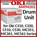 Oki 44494202 CMYK (4-Color) Original Imaging Drum (20000 Pages) for Oki C310dn, C330dn, C510dn, C530dn, MC351dn, MC351dn-L, MC361dn, MC361dn-L, MC561dn, MC561dn-L