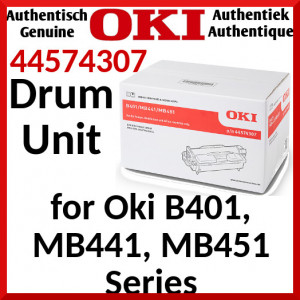 Oki 44574307 Black Imaging Drum (25000 Pages) for Oki B401d, B401dn, MB441dn, B401n, MB441dn-L, MB451dn, MB451dn-L, MB451dw, MB451dw-L