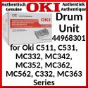 Oki 44968301 Original (4-Color) Imaging CMYK Drum (30000 Pages) for Oki C511n, C511dn,C531dn, MC332dn, MC342dn, MC342dnw,MC352dn, MC362dn,MC362dnw,, MC562dn, MC562dnw, C332dn, C332dnw, MC363dn, MC363dnw