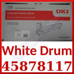 OKI 45878117 White Original Imaging Drum (9000 Pages) for Oki Pro 8432WT