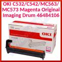 OKI 46484106 Magenta Original Imaging Drum (30000 Pages) for OKI MC563dn, MC563dnw, MC573dn; C532dn, 542dn
