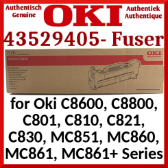 Oki 43529405 Genuine Fuser Kit 220V (100000 Pages) for Oki C8600, C8800, C801, C810, C821, C830, MC851, MC860, MC861, MC861+ Series