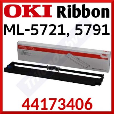 Oki 44173406 Black Original Microline Ribbon (13 Million Strikes) for Oki Microline ML-5721eco, ML-5791eco