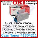 Oki 41304211 Cyan Original Toner Cartridge (10000 Pages)