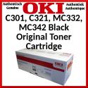 Oki 44973536 Black Original Toner Cartridge (2500 Pages) for Oki C301dn, C321dn, MC332dn, MC332dn-L, MC342dn, MC342dn-L, MC342dnw, MC342dnw-L