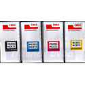 OKI MC853 / MC873 (CMYK 4-Toners) Cyan 45862839 / Magenta 45862838 / Yellow 45862837 / Black 45862840 Original Toner Cartridges Kit for Oki MC853dn, MC853dnct, MC853dnv, MC873dn, MC873dnct, MC873dnv, MC873dnx