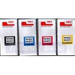 OKI MC853 / MC873 (CMYK 4-Toners) Cyan 45862839 / Magenta 45862838 / Yellow 45862837 / Black 45862840 Original Toner Cartridges Kit for Oki MC853dn, MC853dnct, MC853dnv, MC873dn, MC873dnct, MC873dnv, MC873dnx