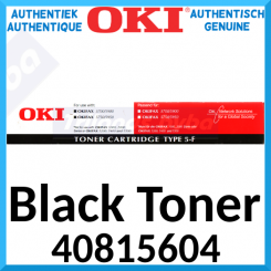 Oki 40815604 Black Original Toner Cartridge Type 5F (3000 Pages) for OkiFax 5700, 5750, 5900, 5950, Lanier Fax 4350, 4360, 4375, 4385, Olympia Fax OF-848, OF-850, OF-868, OF-870, OF920, OF-960