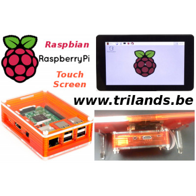 Raspberry Pi 3B+ 7 Inch Touch Screen Point of Sale (POS)  for Zebra Food Content Printing System. (Food Industry)
